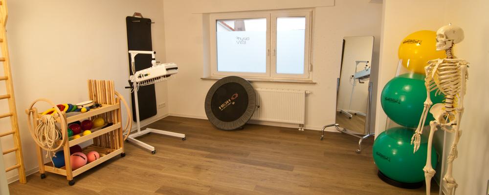 Gymnastikraum der Physiopraxis Physiovital in Notzingen