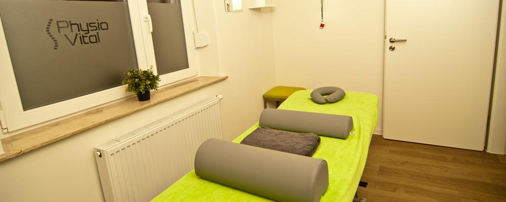Ein Behandlungsraum Physiotherapie